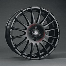 OZ SUPERTURISMO GT 7 x 17 5*100 Et: 38 Dia: 68 MATT BLACK RED LETTERING