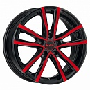 MAK MILANO 8 x 18 5*108 Et: 45 Dia: 72 Black and Red