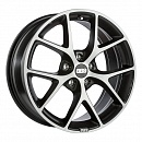 BBS SR 8 x 18 5*114,3 Et: 40 Dia: 82 Vulcano grey diamond cut