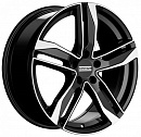 FONDMETAL Hexis 8 x 18 5*112 Et: 48 Dia: 57,1 Black Glossy Machined